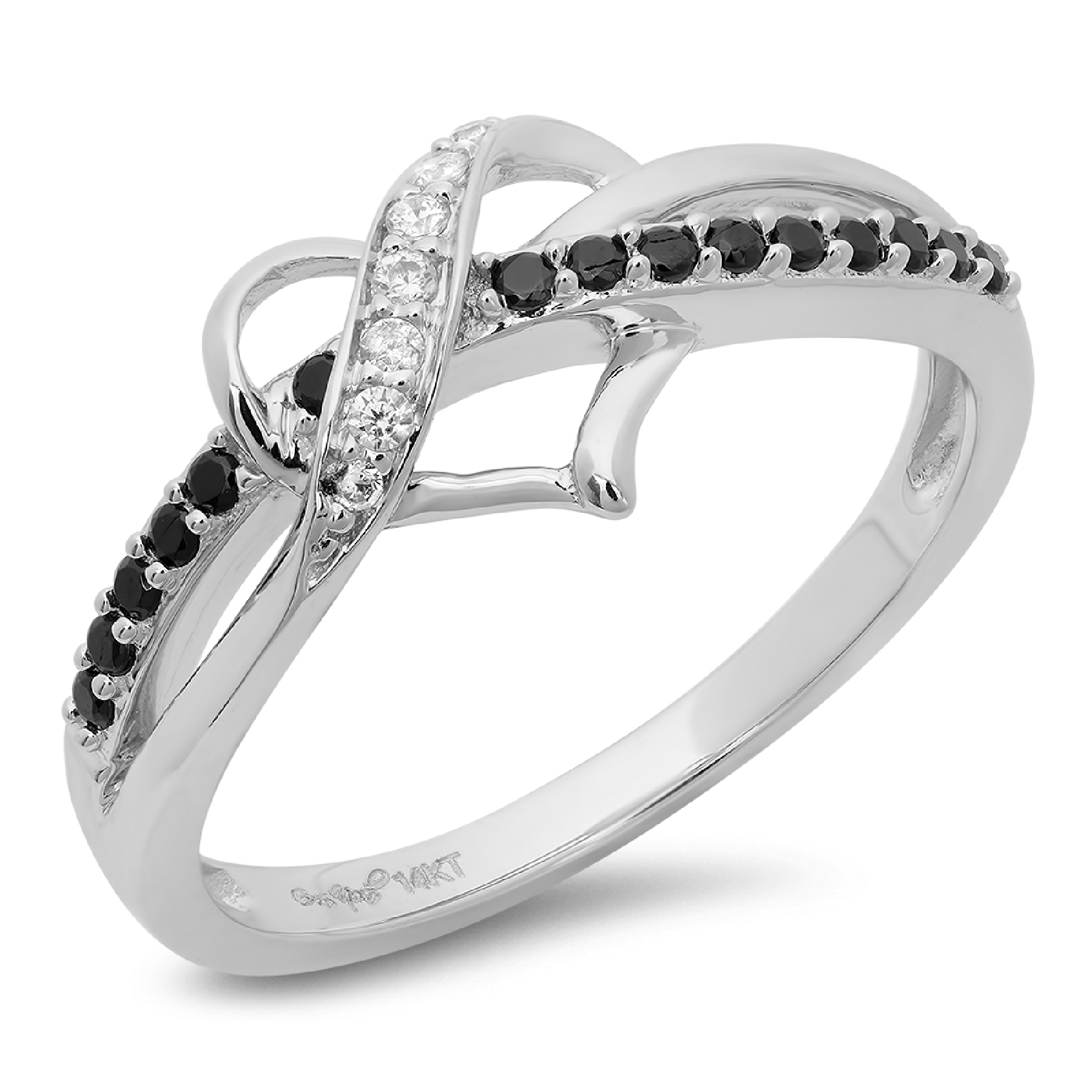 .2 Round Heart Solitaire Promise Wedding Engagement Wedding Ring 14k White gold