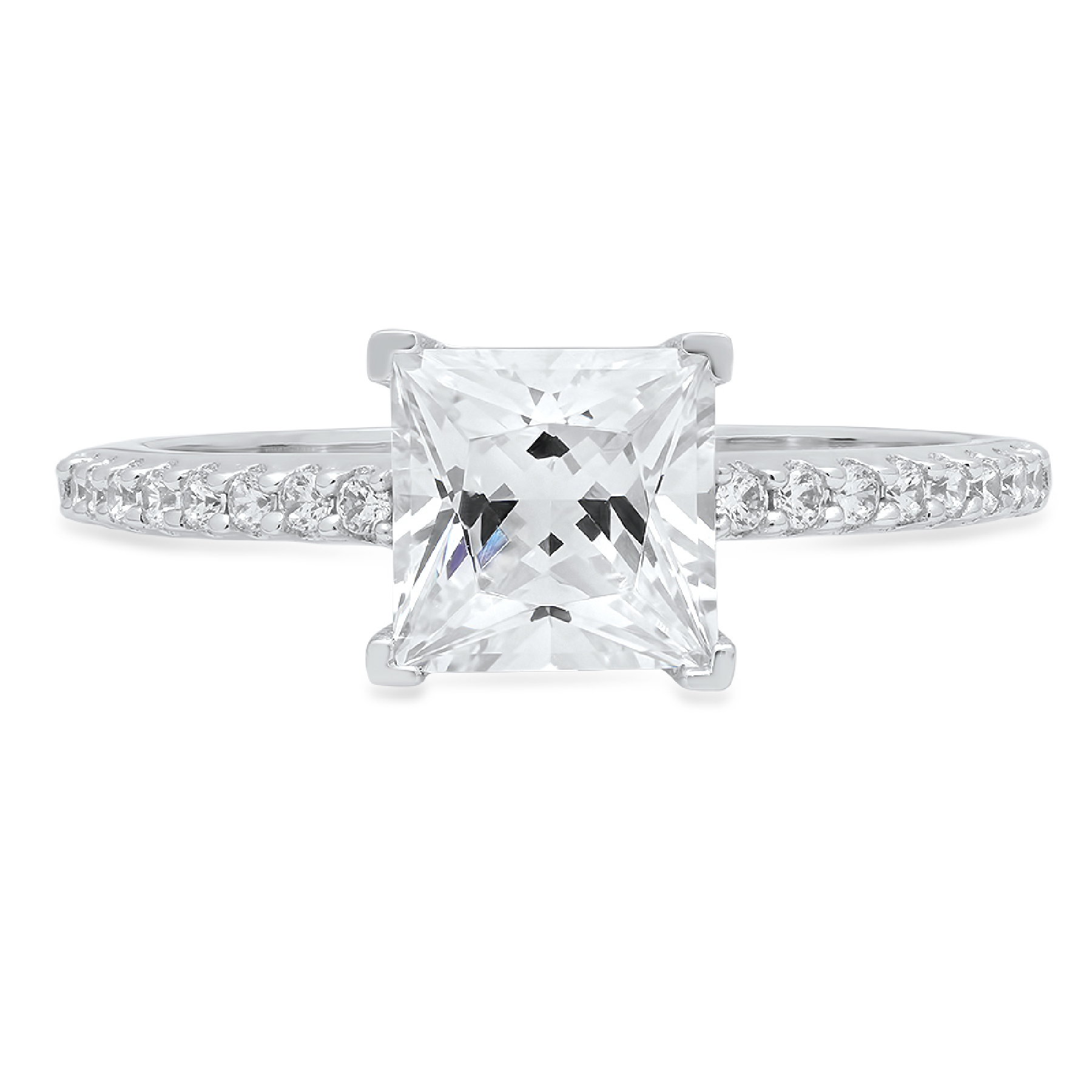 1-66-Princess-Solitaire-Engagement-Wedding-Bridal-Promise-Ring-14k-White-Gold