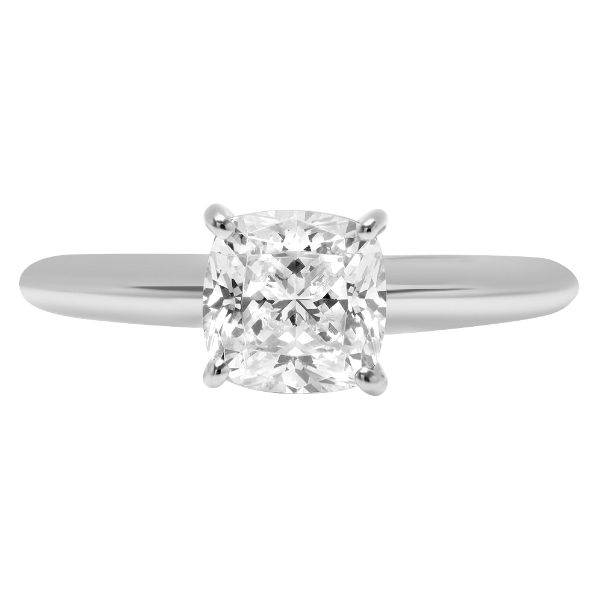 1.75 Ct Round Cut Solitaire Engagement Wedding Promise Ring 14K Solid White Gold